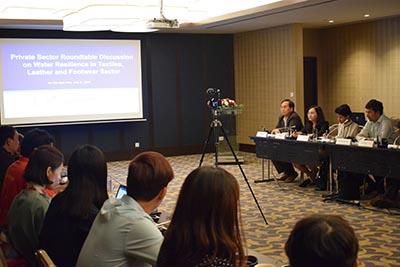 Chủ tịch VITAS tham dự buổi Thảo luận bàn tròn về sử dụng nước trong ngành dệt may & da giày
