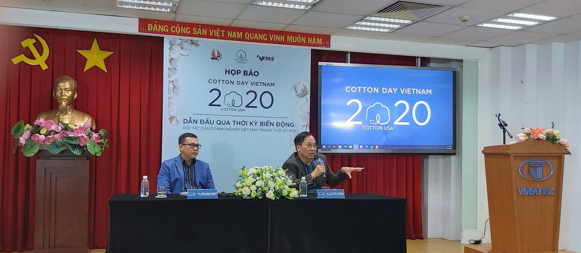 VITAS và CCI tổ chức Họp báo giới thiệu Cotton Day Vietnam 2020