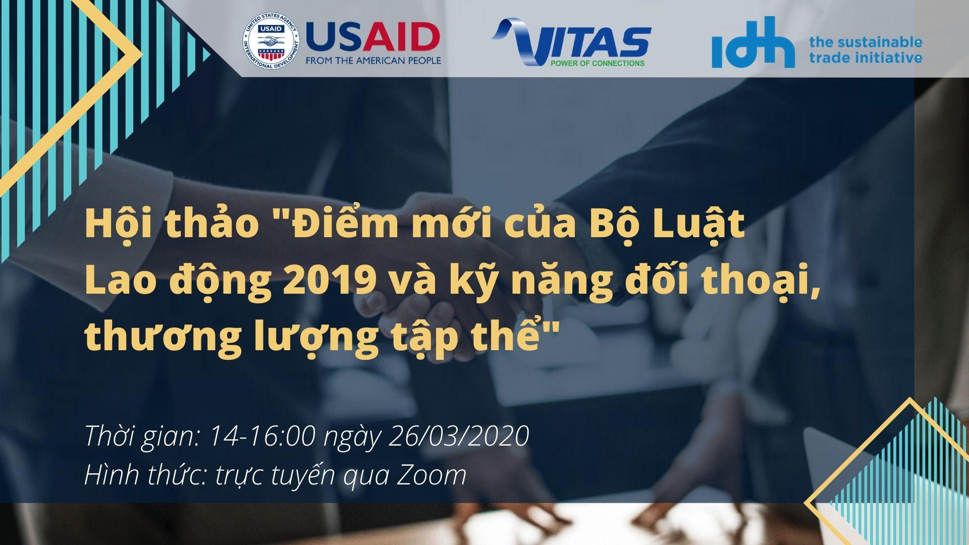 """Mời tham dự hội thảo """"Điểm mới của Bộ Luật Lao động 2019 và kỹ năng đối thoại, thương lượng tập thể"""