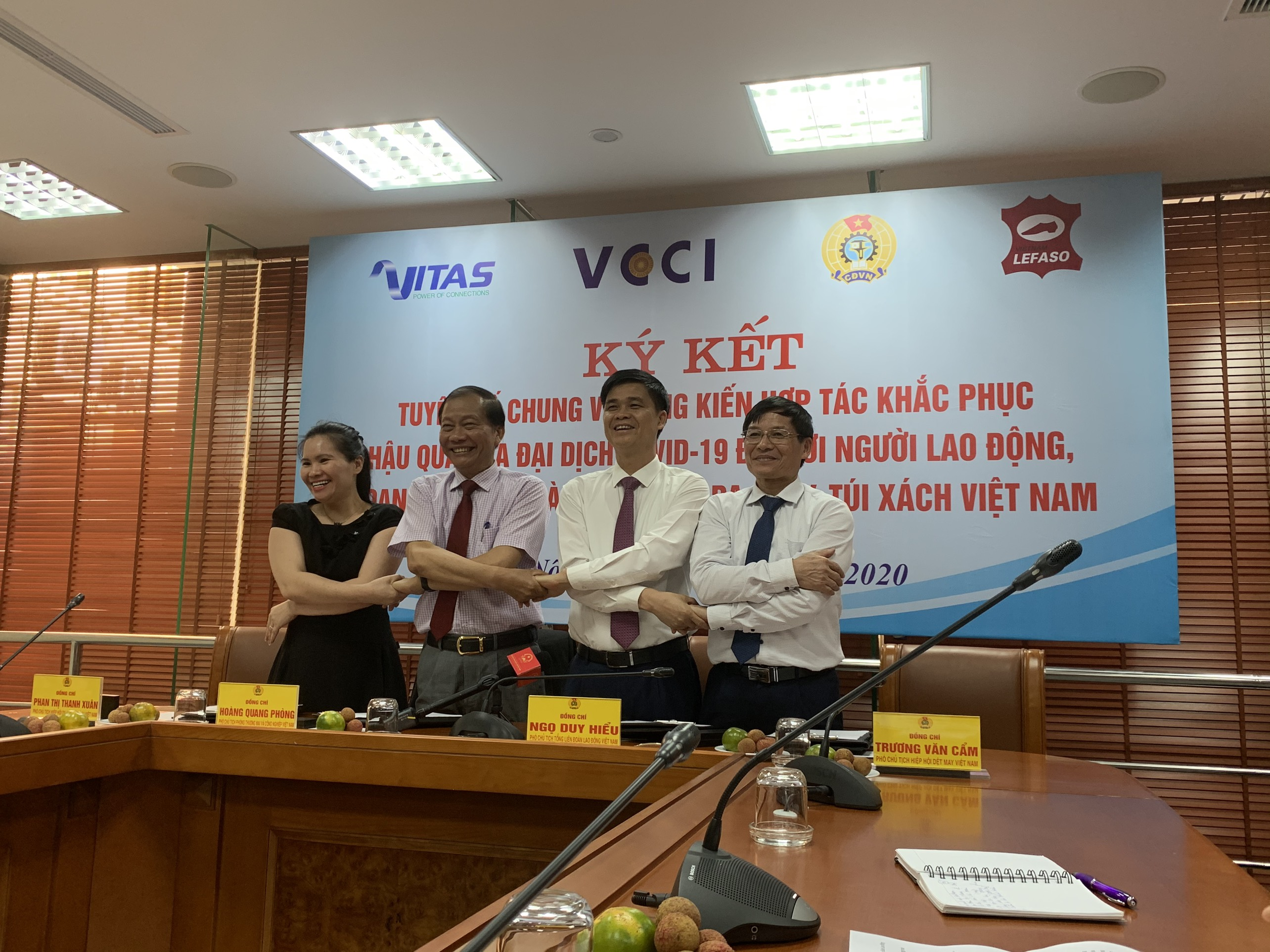 Joint declaration of social partners in garment and textile, leather, footwear, and handbags industries of Vietnam