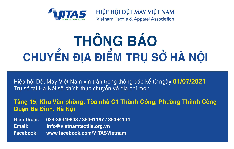 Thông báo chuyển trụ sở VITAS