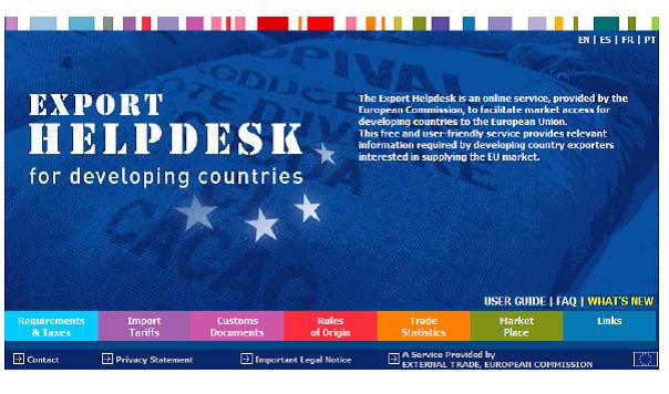 Trang thông tin điện tử hỗ trợ xuất khẩu cho các nước đang phát triển