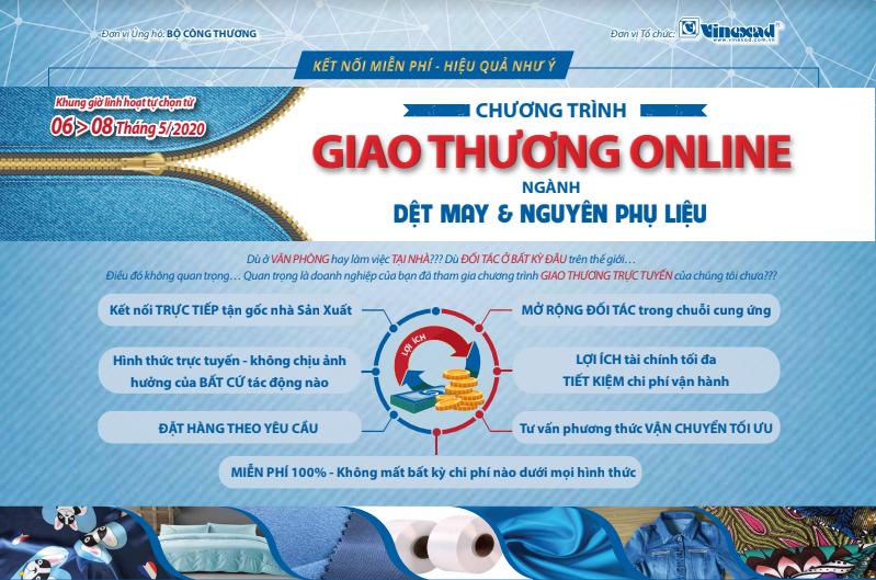 Giao thương trực tuyến: Phiên IV: Nguyên phụ liệu dệt may