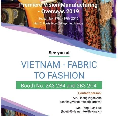 Mời tham dự Hội chợ Premier Vision Manufacturing Oversea Pháp
