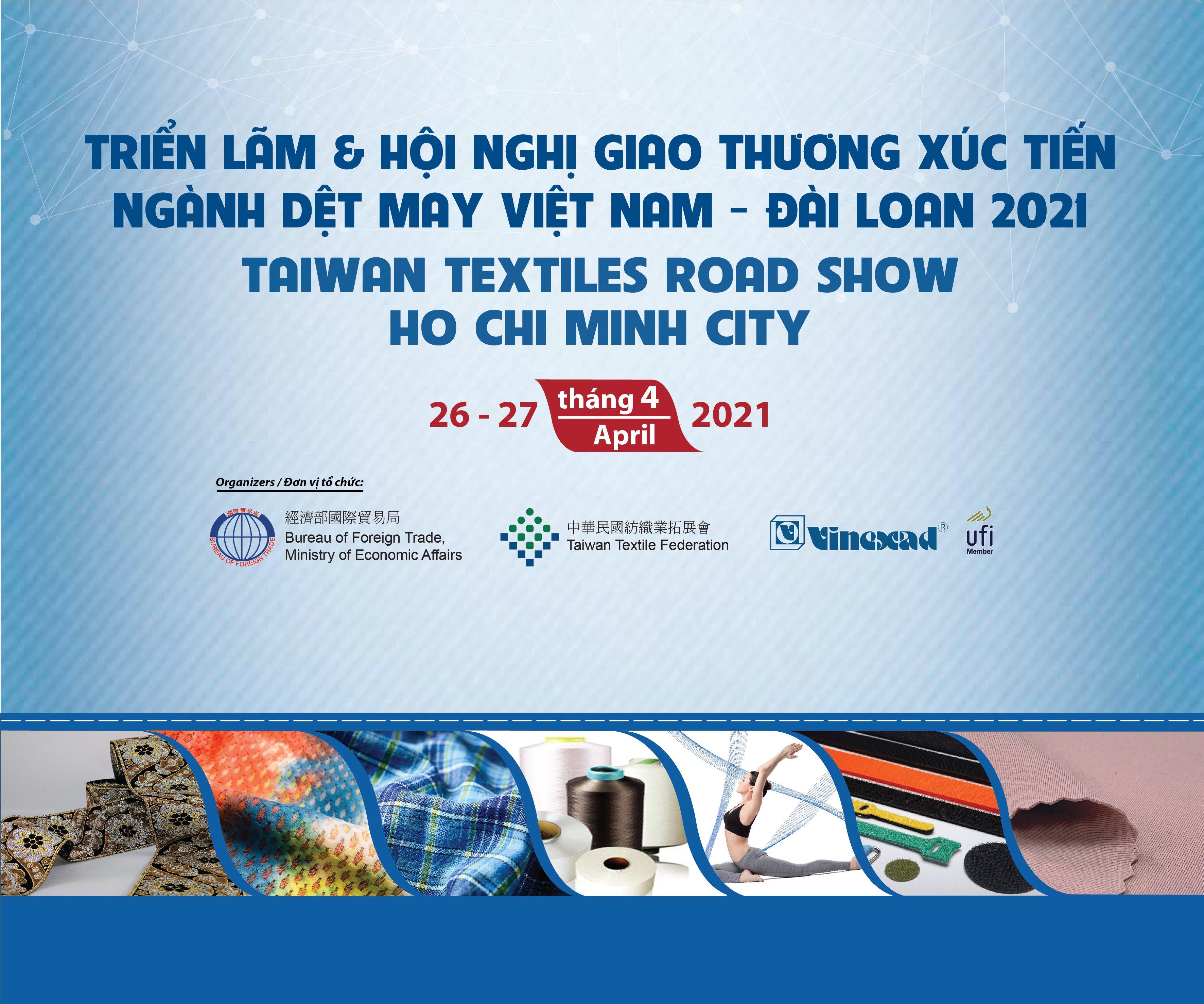 Triển lãm & Hội nghị giao thương Xúc tiến ngành Dệt may Việt Nam – Đài Loan 2021