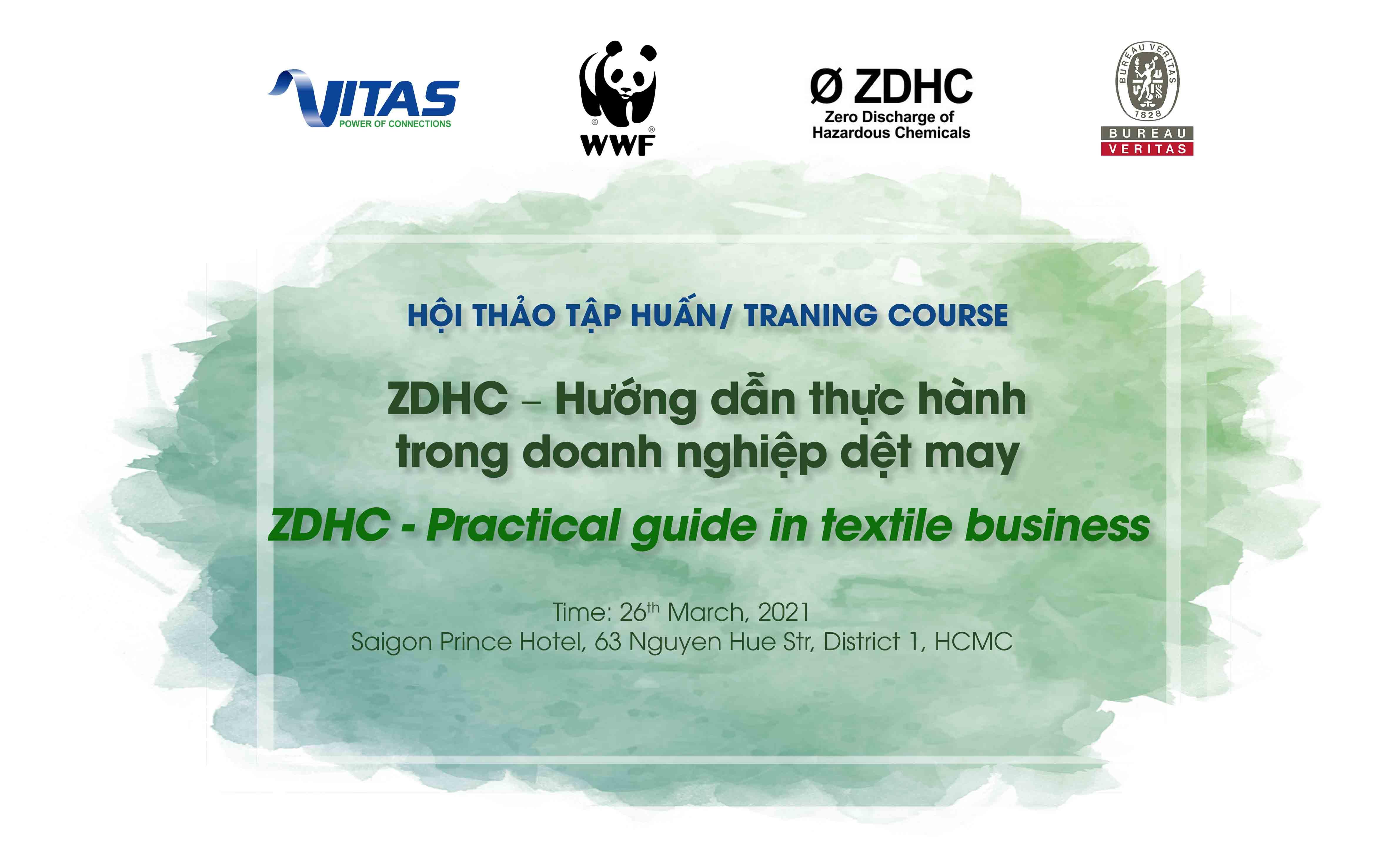 """Thư mời tham dự Hội thảo tập huấn """"ZDHC – Hướng dẫn thực hành trong doanh nghiệp dệt may"""""""