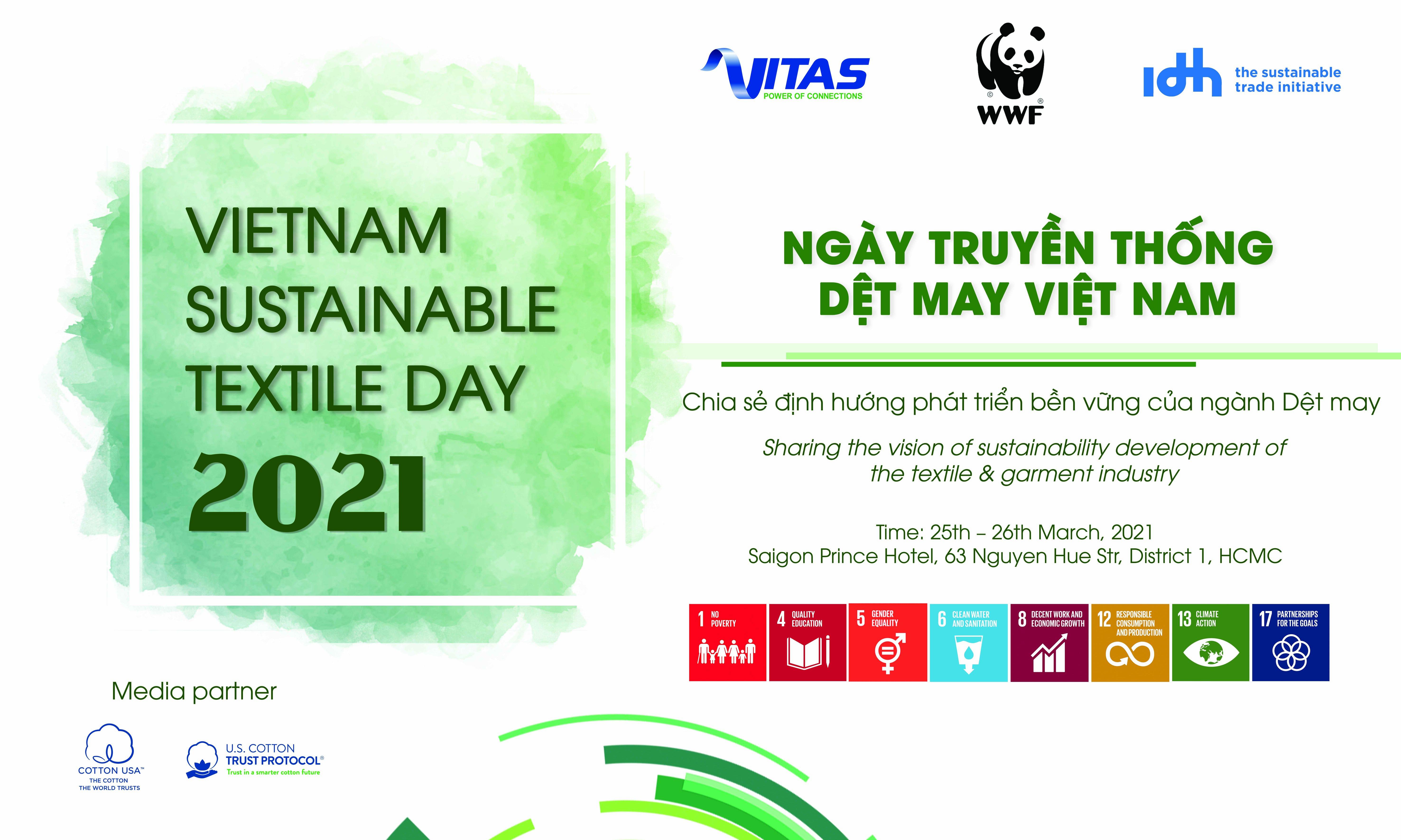 Thư mời tham dự VIETNAM SUSTAINABLE TEXTILE DAY 2021