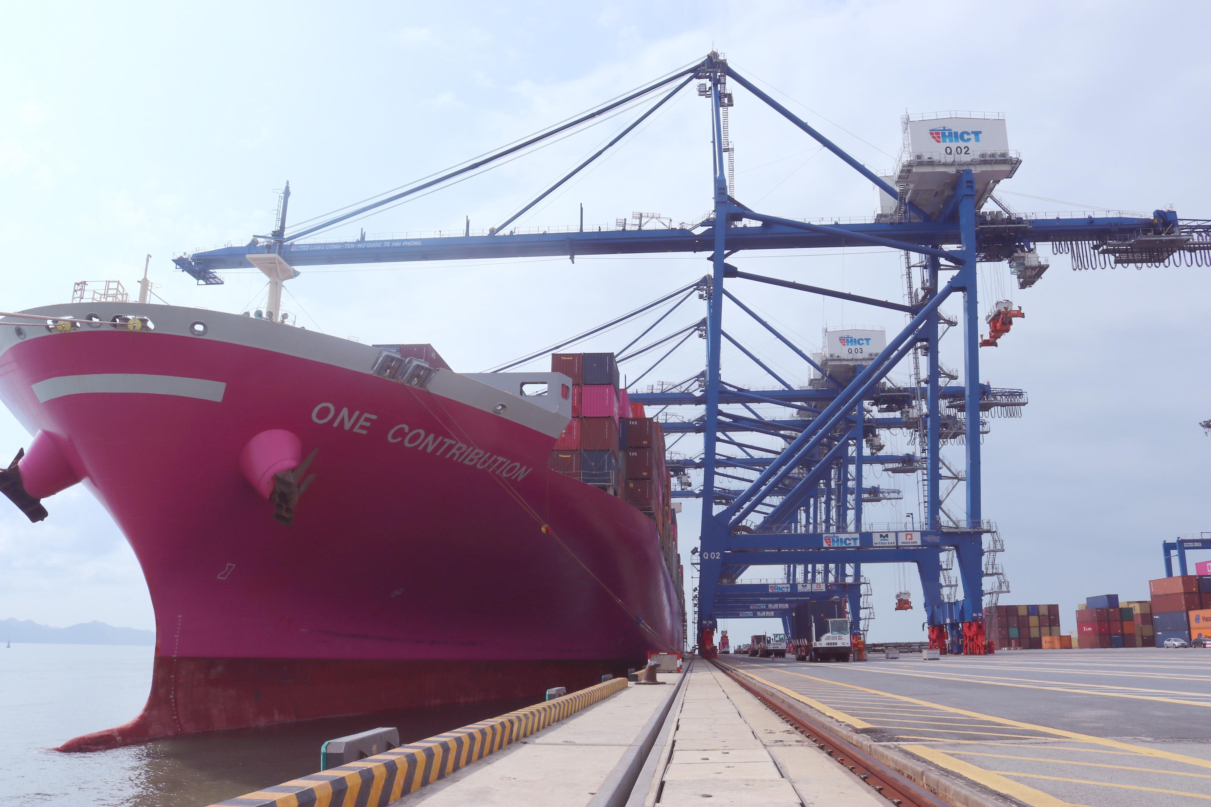Cảng container Quốc tế Tân cảng Hải Phòng (TC-HICT) tiếp tục đón tuyến dịch vụ mới xuyên Thái Bình Dương đi trực tiếp bờ Tây Hoa Kỳ