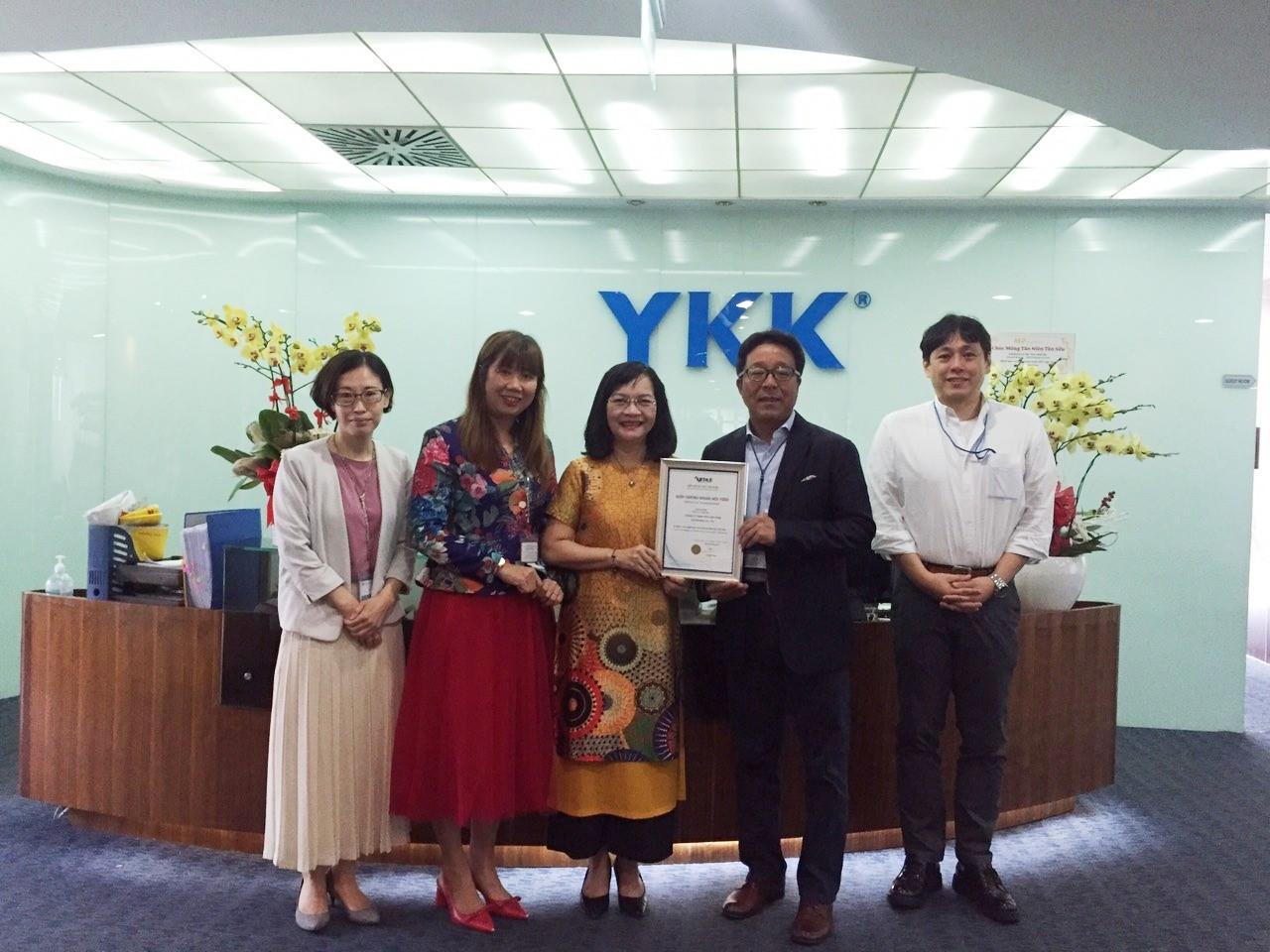 Chào mừng hội viên mới Vitas: Công ty TNHH YKK Việt Nam