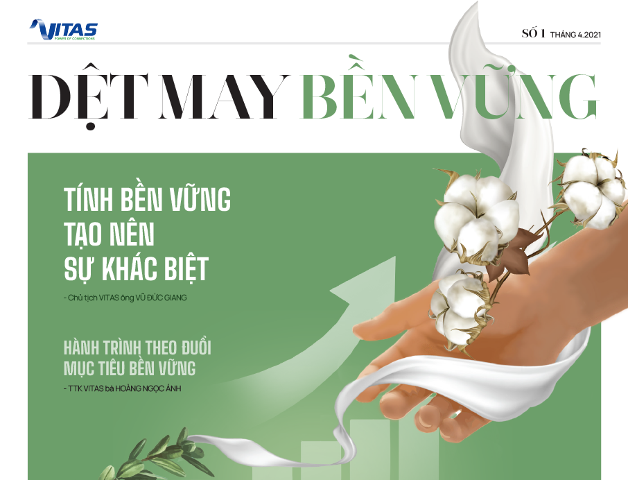 Tạp chí Dệt May bền vững số 01 - tháng 4/2021