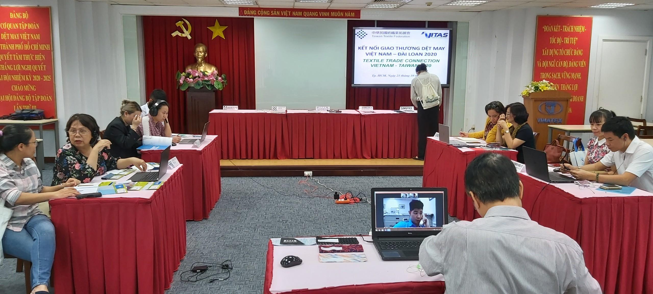 Nhiều sản phẩm mới của DN Đài Loan đã được giới thiệu tại buổi Kết nối giao thương B2B về dệt may