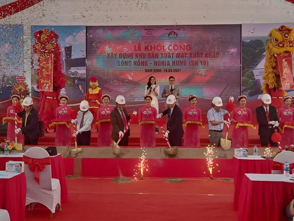 May Sông Hồng khởi công xây dựng nhà máy may xuất khẩu tại Nam Định