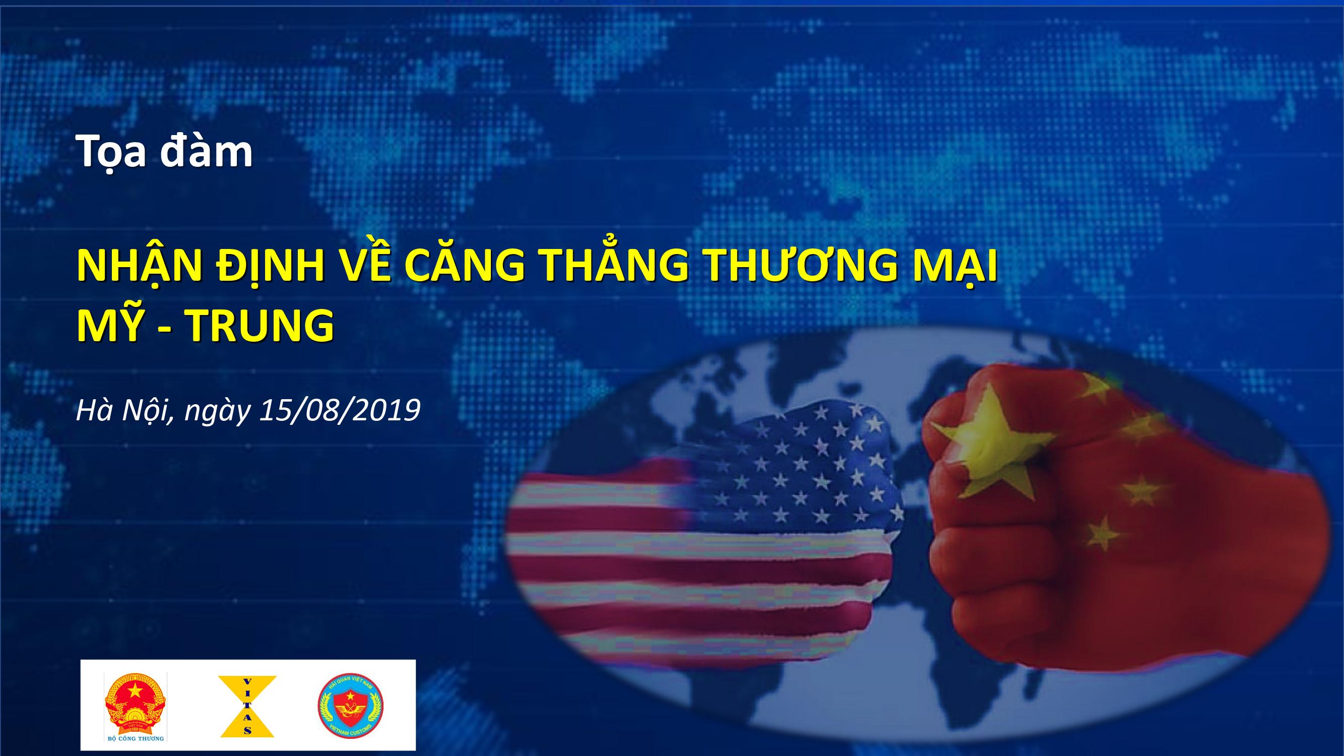 Mời tham dự Tọa đàm nhận định về căng thẳng Mỹ - Trung