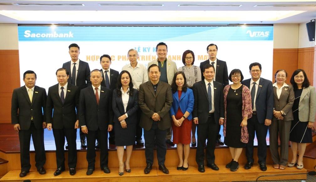 Lễ ký kết hợp tác phát triển ngành dệt may giữa VITAS và SACOMBANK