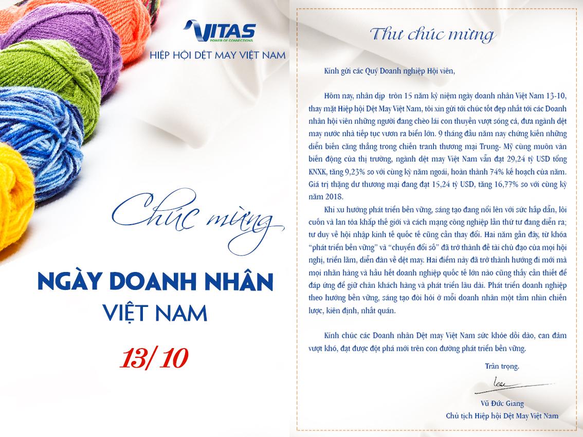 Chúc mừng Ngày Doanh nhân Việt Nam ...