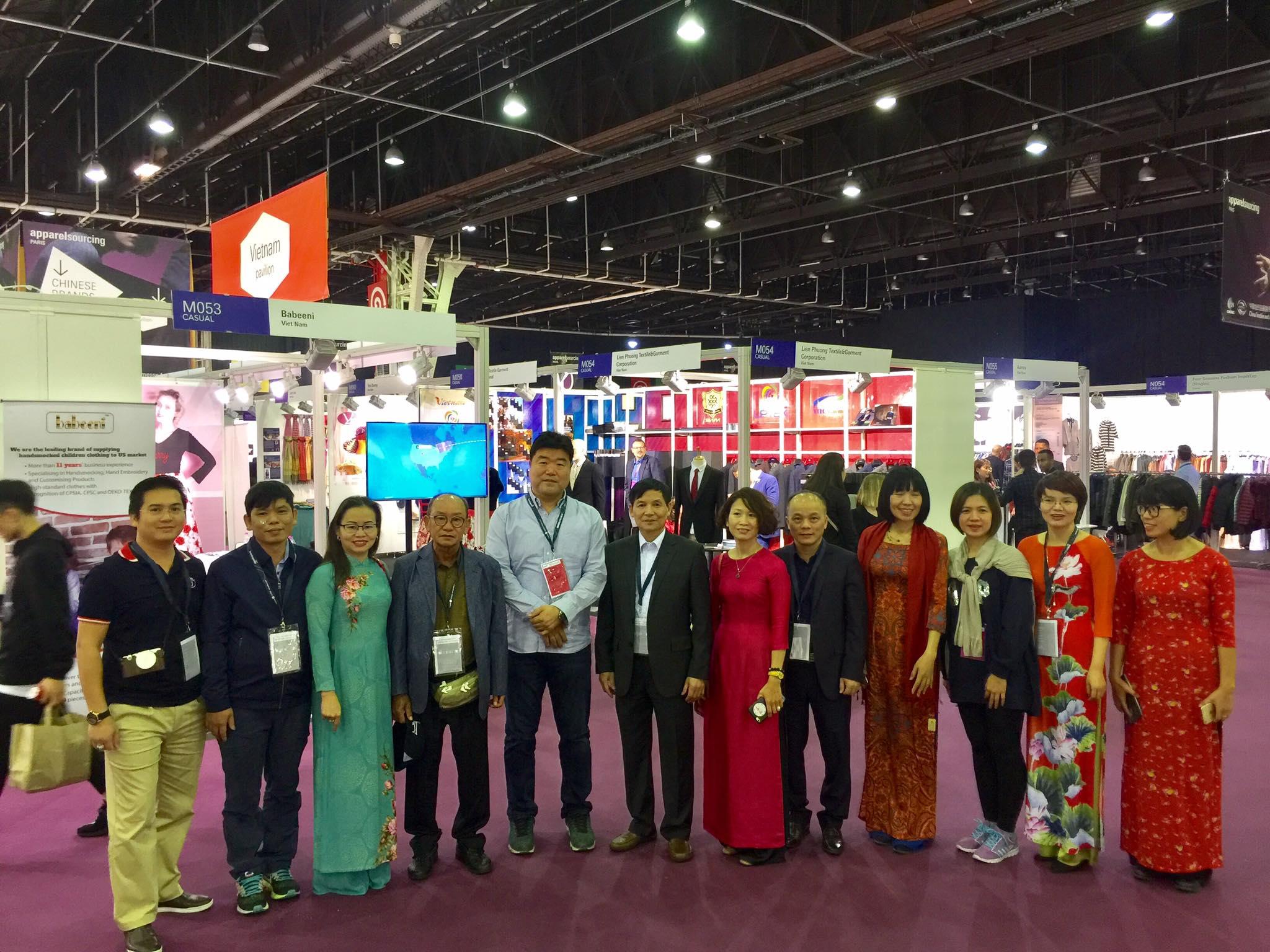 Việt Nam tiếp tục tham dự Hội chợ Apparel Sourcing Paris lần thứ 4 tại Pháp