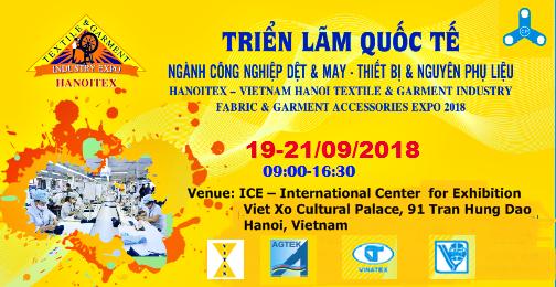 Vietnam Hanoi Fabric & Garment Accessories Expo 2018 (HANOITEX 2018)