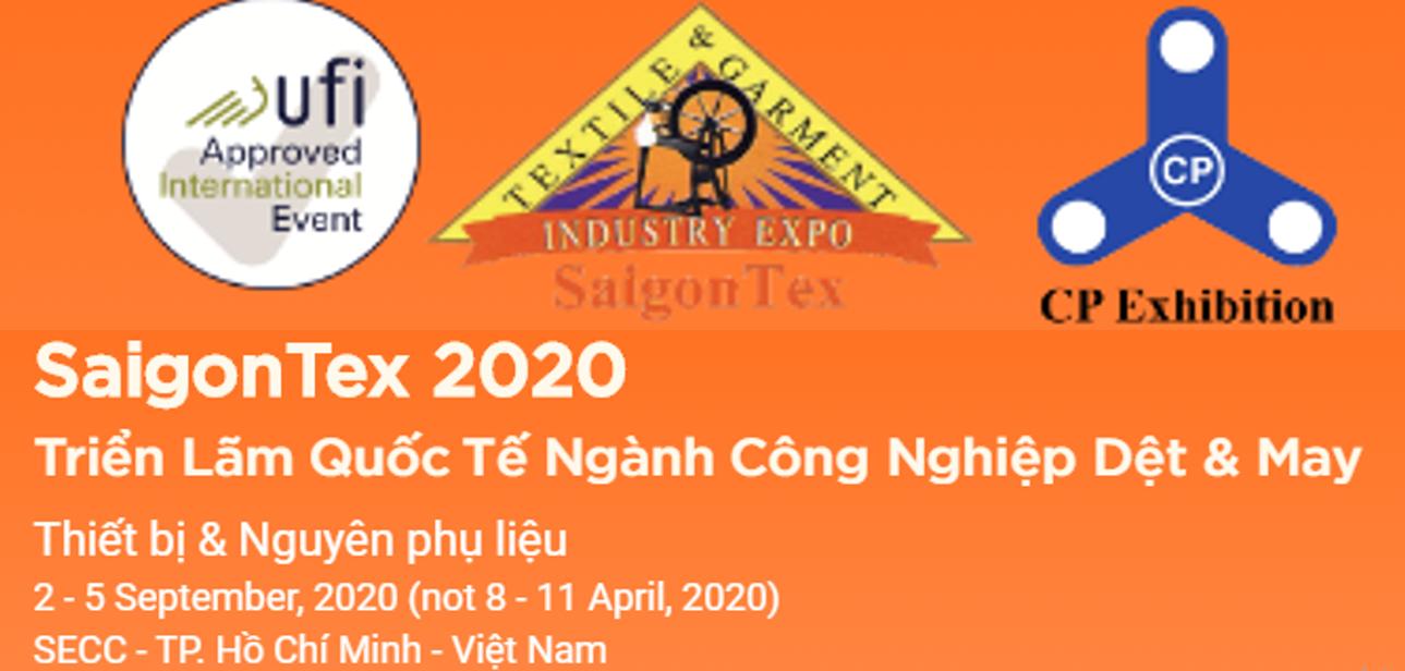Thông báo chuyển thời gian của hội chợ Saigon Tex 2020