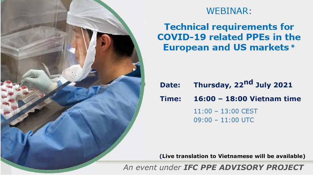 Webinar : Technical Requirements for COVID-19 related PPEs in the European and US markets
