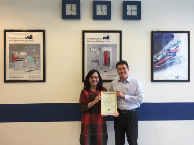 VITAS trao giấy chứng nhận hội viên mới cho Công ty TNHH VEIT Việt Nam