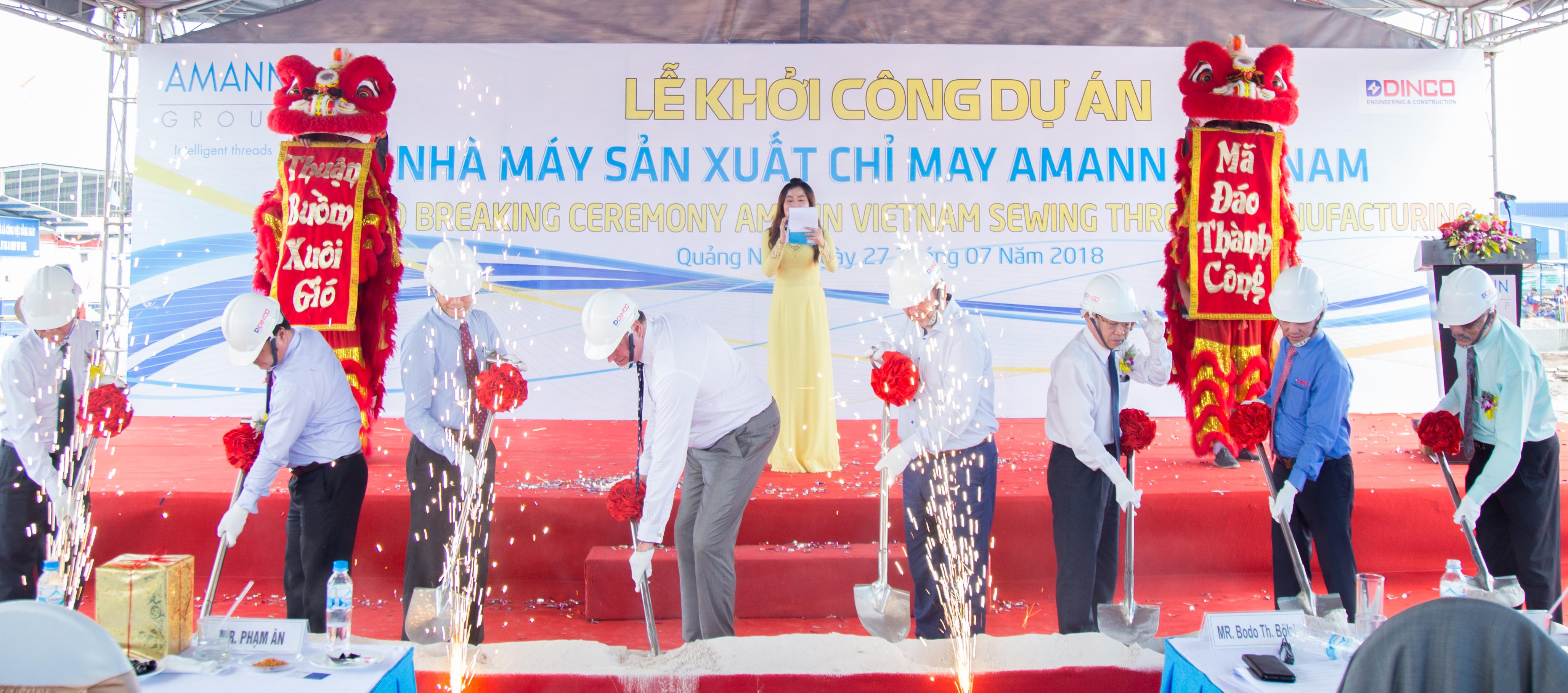 Lễ Khởi công Nhà máy sản xuất chỉ may Amann Việt Nam